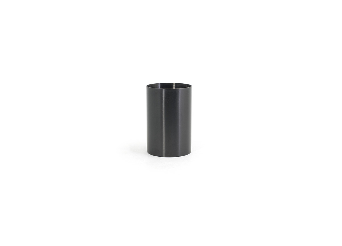 10oz Brushed Stainless Holder - Matte Black