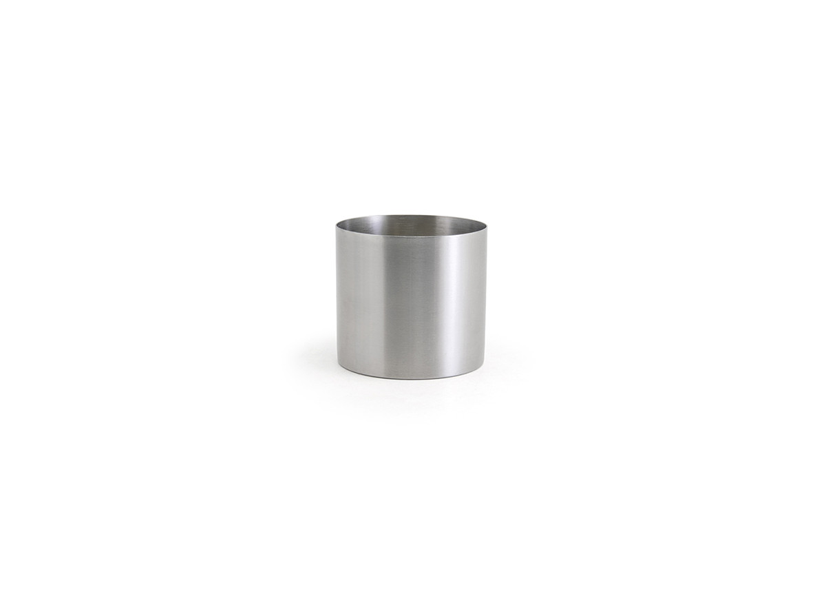 14oz Brushed Stainless Holder - Silver
