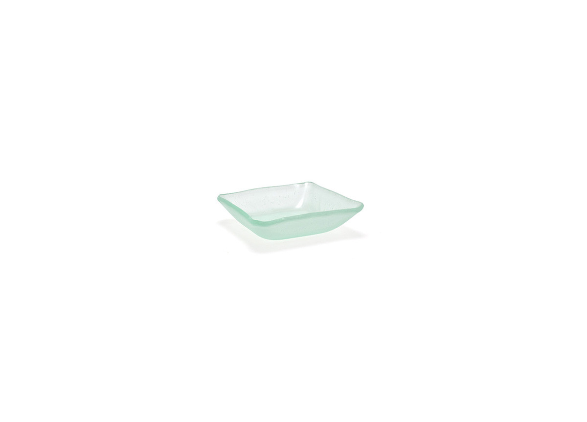 "3.25"" Square Arctic Tall Dish - Frosted"