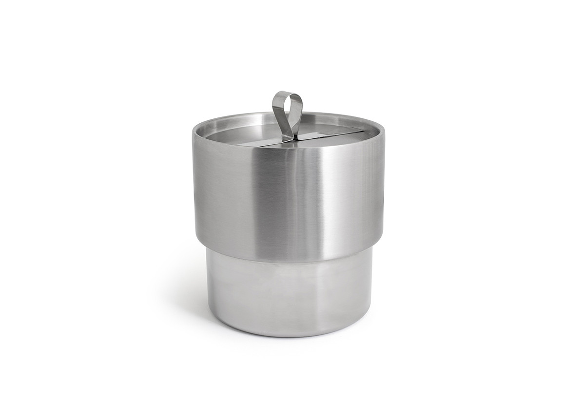 2.5qt Round Stainless Ice Bucket - Brushed/Mirror
