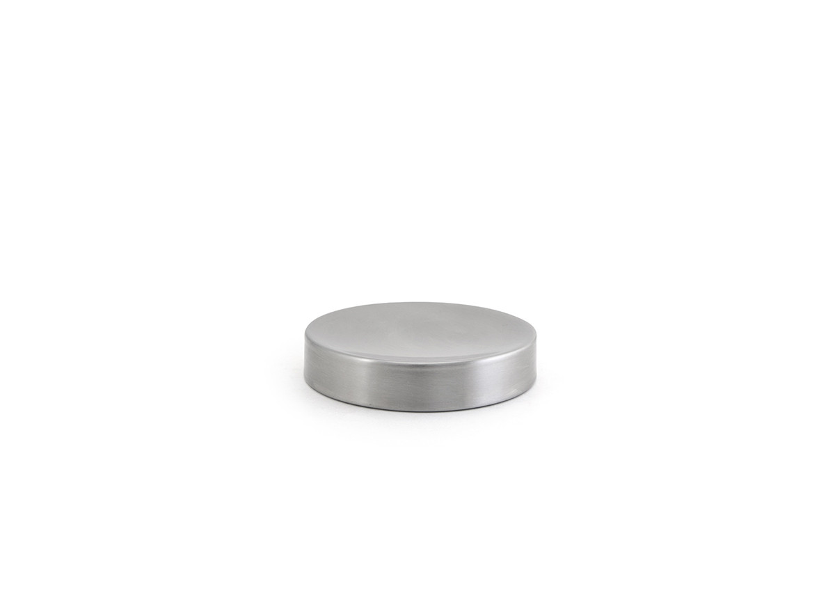 "4.25"" Round Brushed Stainless Soap Dish - Silver"
