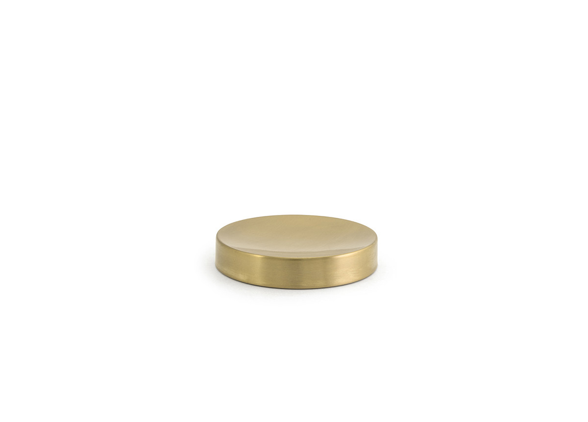 """4.25"""" Round Brushed Stainless Soap Dish - Matte Brass"""