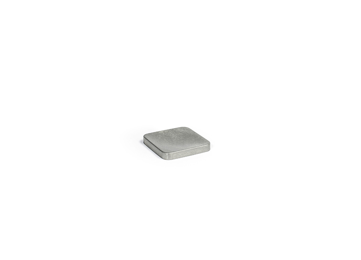"""4"""" Square Stainless Soap Dish - Antique"""