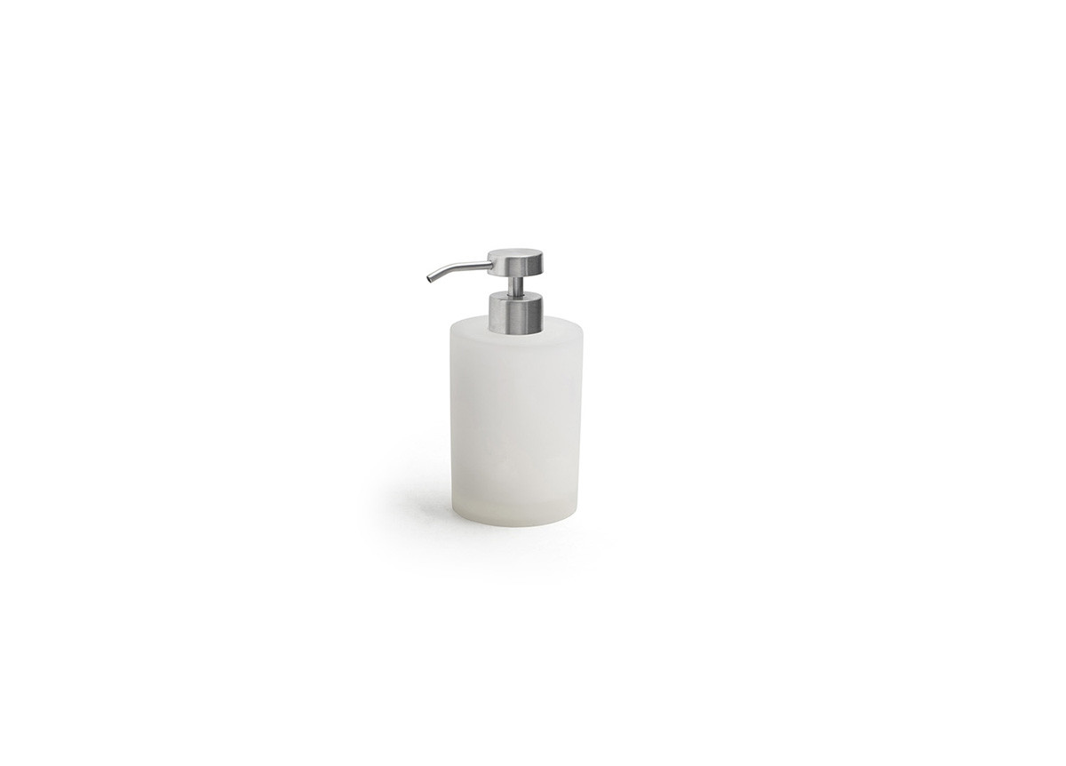 10oz Nassau Pump - Ice with Low Profile Brushed Stainless Top