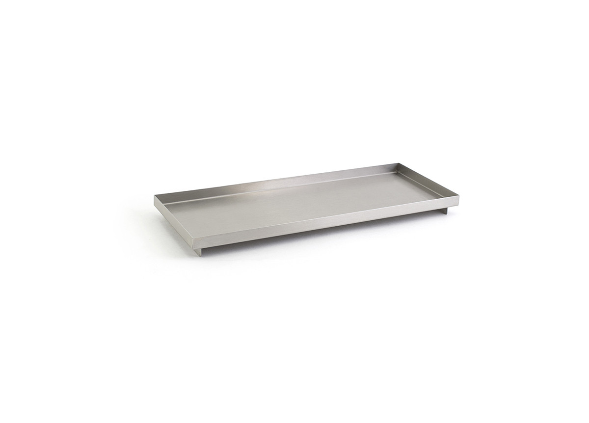 "12.25"" x 4.75"" Brushed Stainless Amenity Tray - Silver"