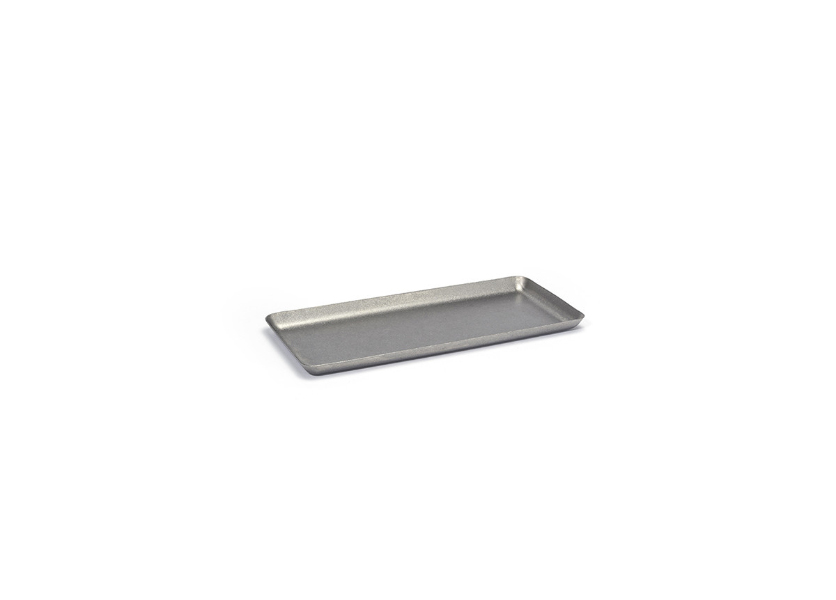 """10"""" x 4.5"""" Stainless Steel Tray - Antique"""