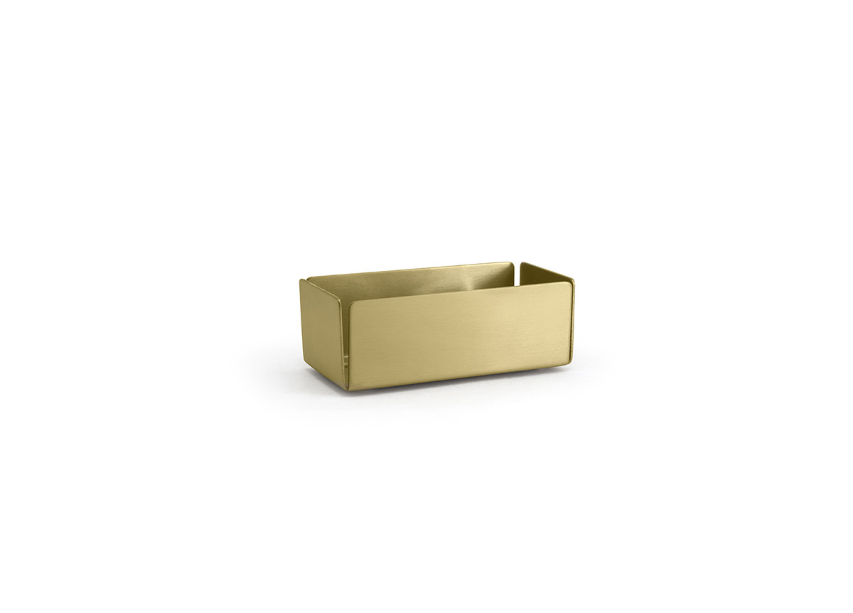 """4.75"""" x 2.25"""" Brushed Stainless Holder - Matte Brass"""
