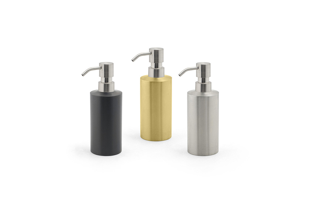 12oz Stainless Steel Soap Pump - with NY Brushed Pump