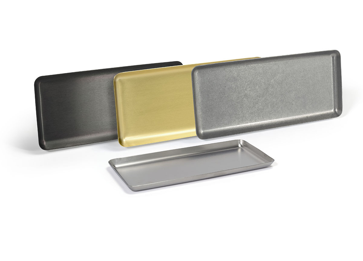 "10"" x 4.5"" Stainless Steel Tray"
