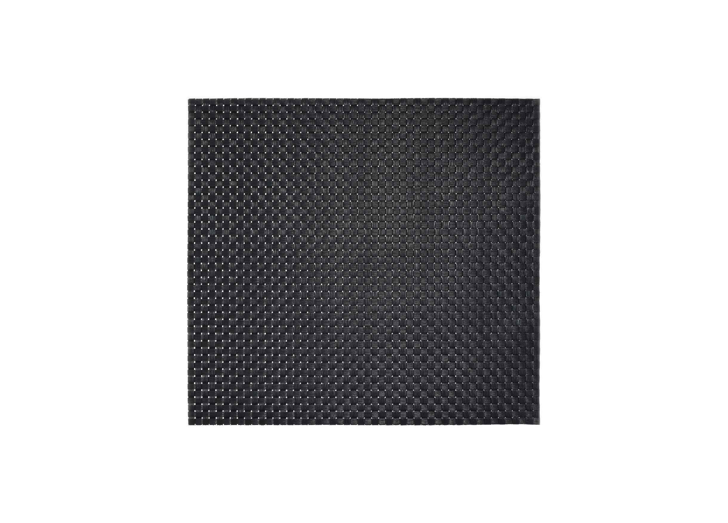 "14"" x 13"" Metroweave Large Basketweave Mat - Black"