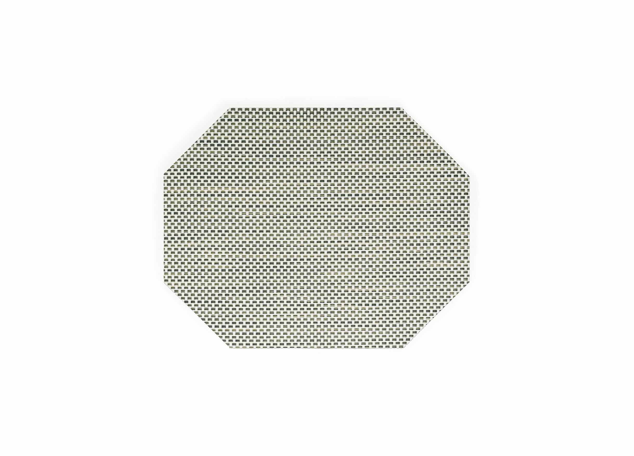 "14"" x 11"" Metroweave Basketweave Mat - Tan"