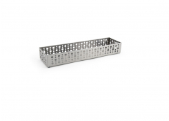 "11"" x 2.75"" Brushed Stainless Dots Holder - Silver"