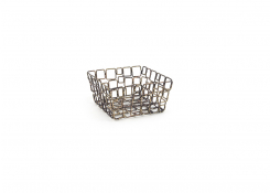 "6"" Square Coppered Link Basket"