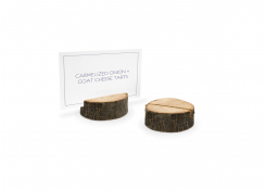 "2.5"" Round Root Menu/Sign Holder"