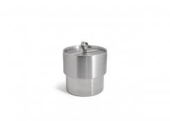 2qt Round Stainless Ice Bucket - Brushed/Mirror