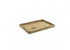 "19"" x 13"" Rustic Tray - Natural"