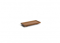 "10"" x 4.5"" Rubberwood Amenity Tray"