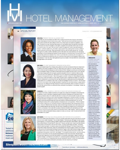 Hotel Management Magazine_Influential Women in Hospitality_Simone Editorial - October 2018