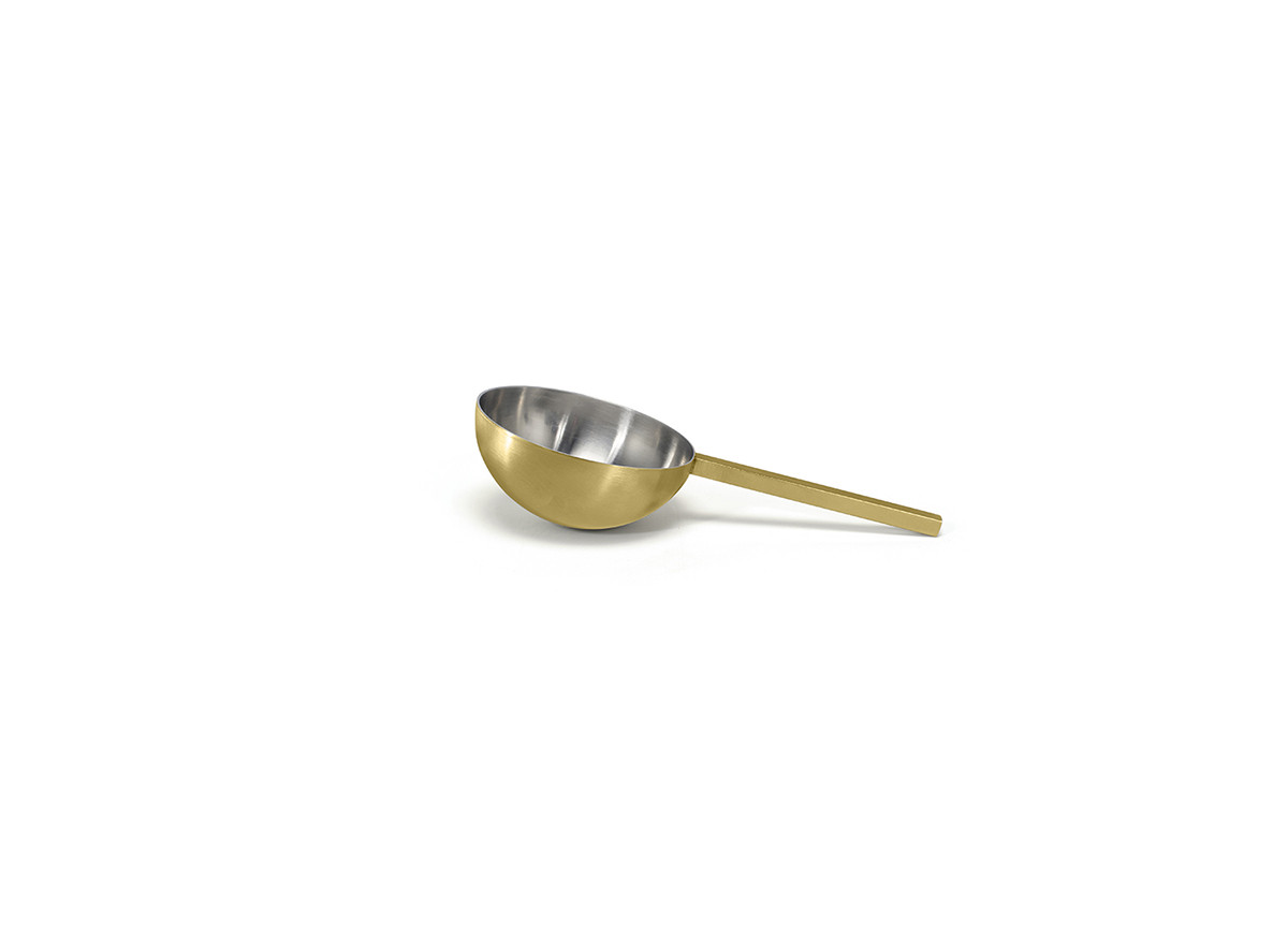 "6"" Brushed Stainless Ice Scoop - Matte Brass"
