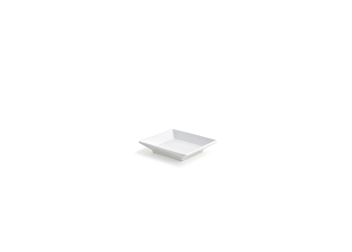 "3.5"" Square Dish - White"