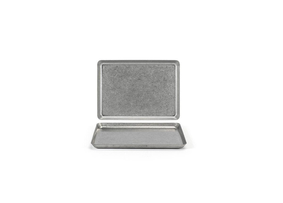 "8.25"" x 6"" Stainless Mod Plate - Antique"