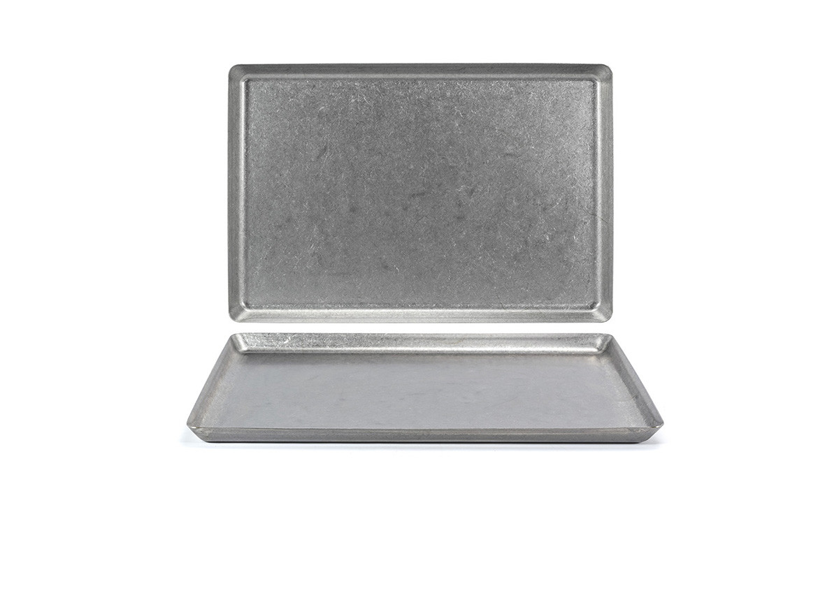 """14"""" x 9.5"""" Stainless Mod Plate - Antique"""