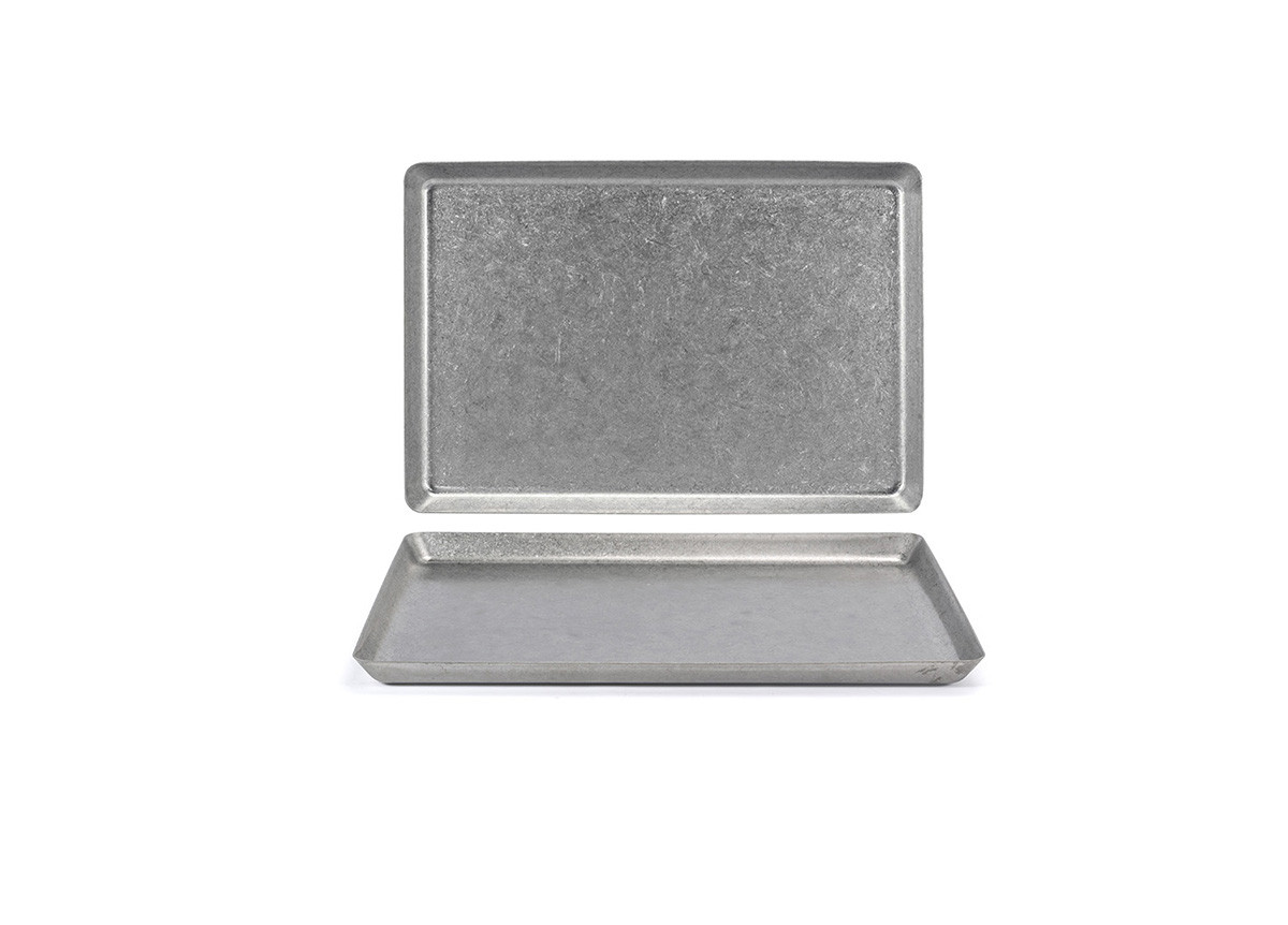 """13"""" x 7"""" Stainless Mod Plate - Antique"""