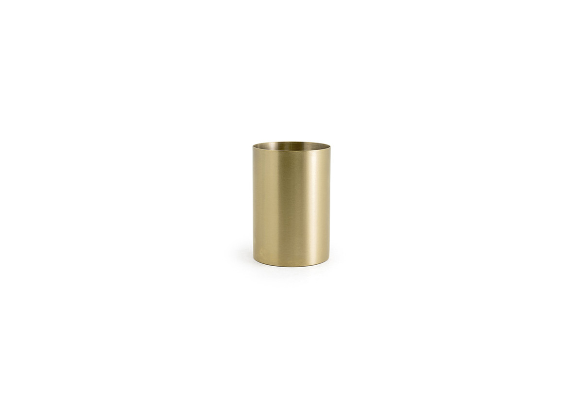 10oz Brushed Stainless Holder - Matte Brass