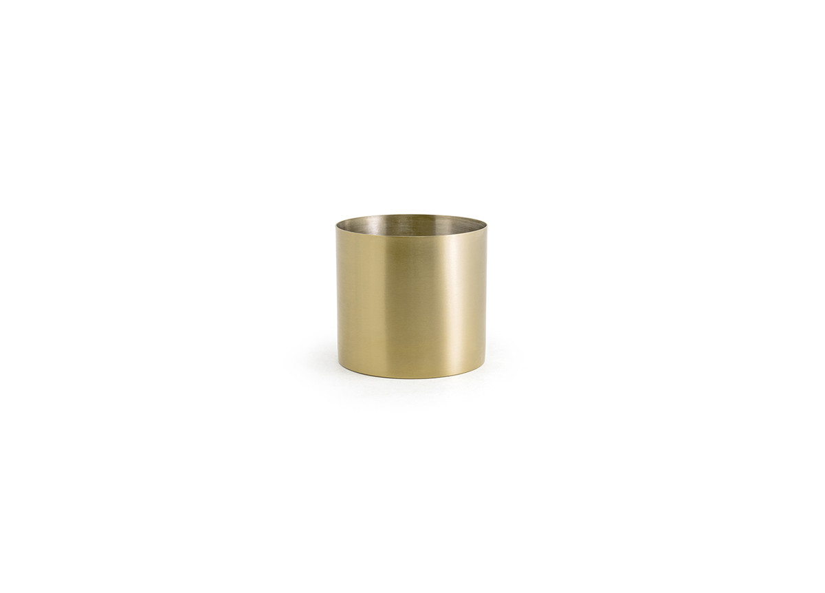 14oz Brushed Stainless Holder - Matte Brass