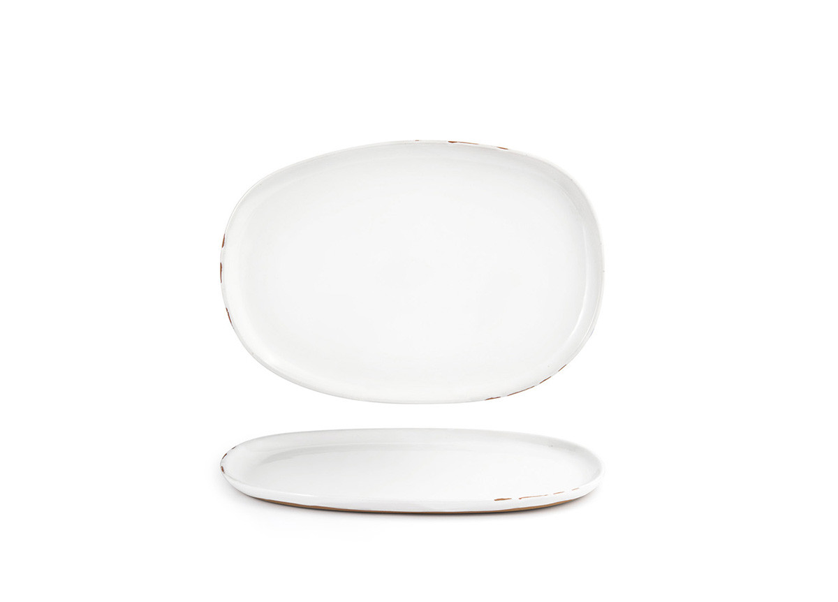 "13"" x 9"" Artefact Plate - White"