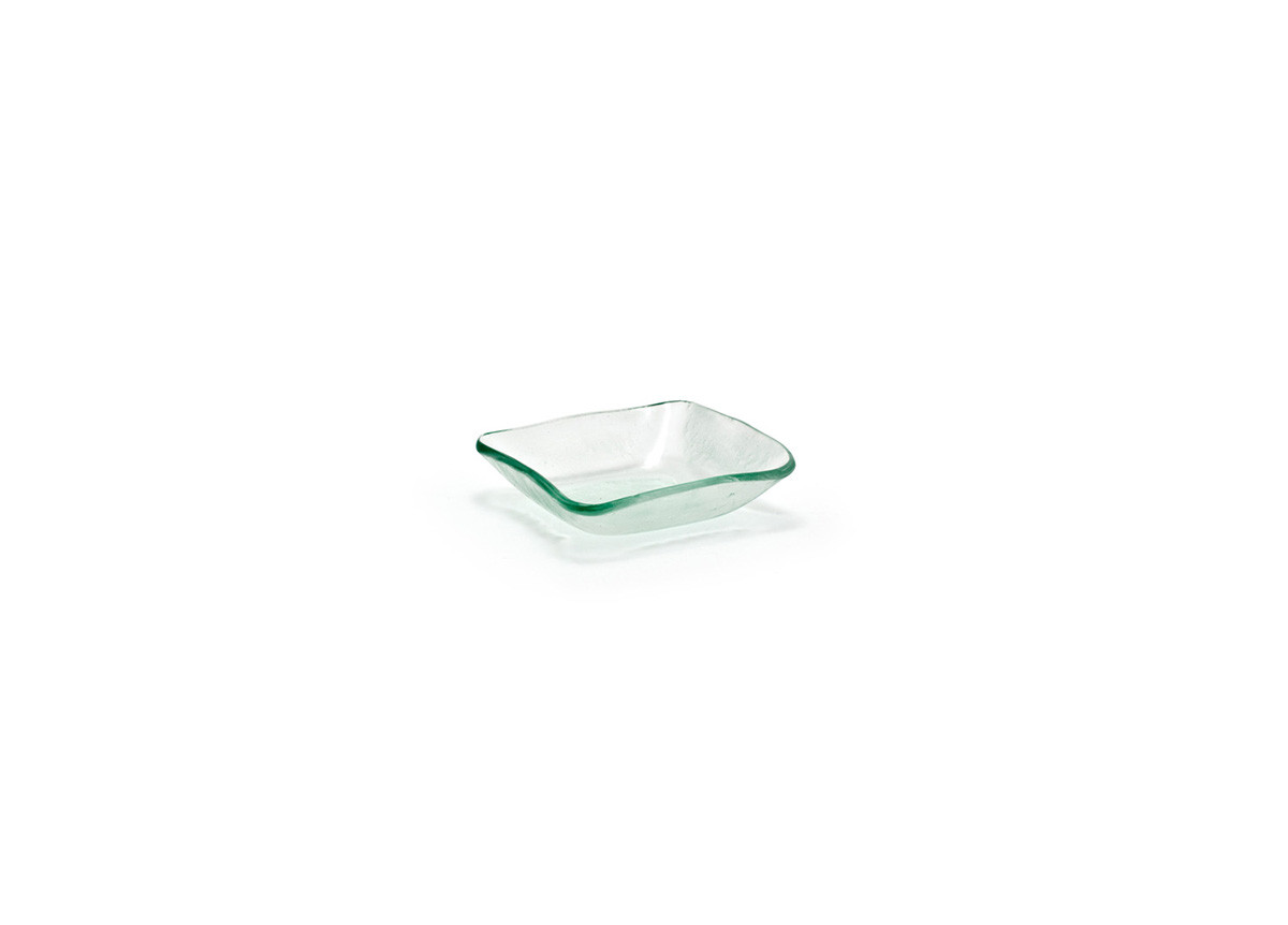 "3.25"" Square Arctic Tall Dish - Clear"