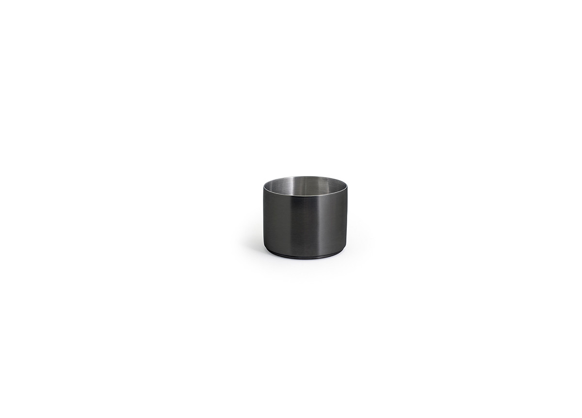 9oz Round Brushed Stainless Canvas Ramekin - Matte Black