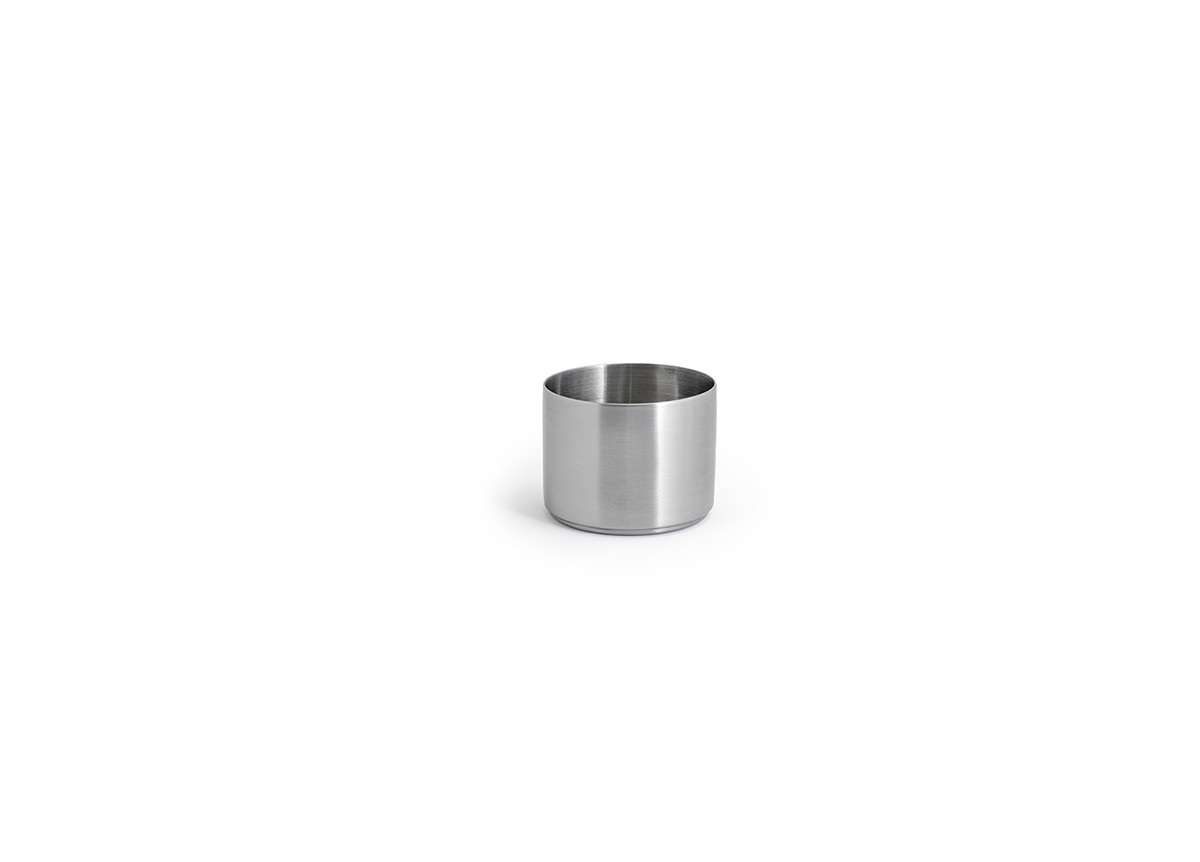 9oz Round Brushed Stainless Canvas Ramekin - Silver