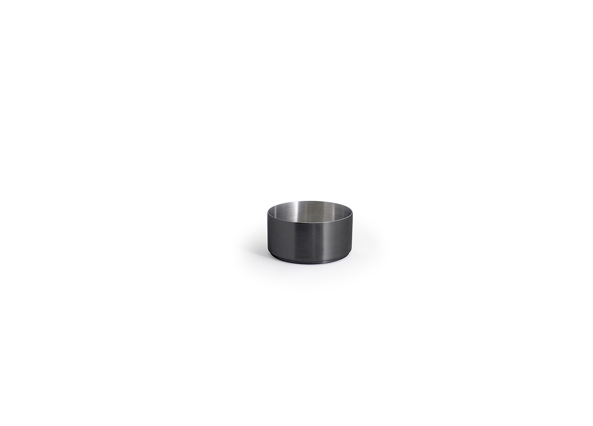 6oz Round Brushed Stainless Canvas Ramekin - Matte Black