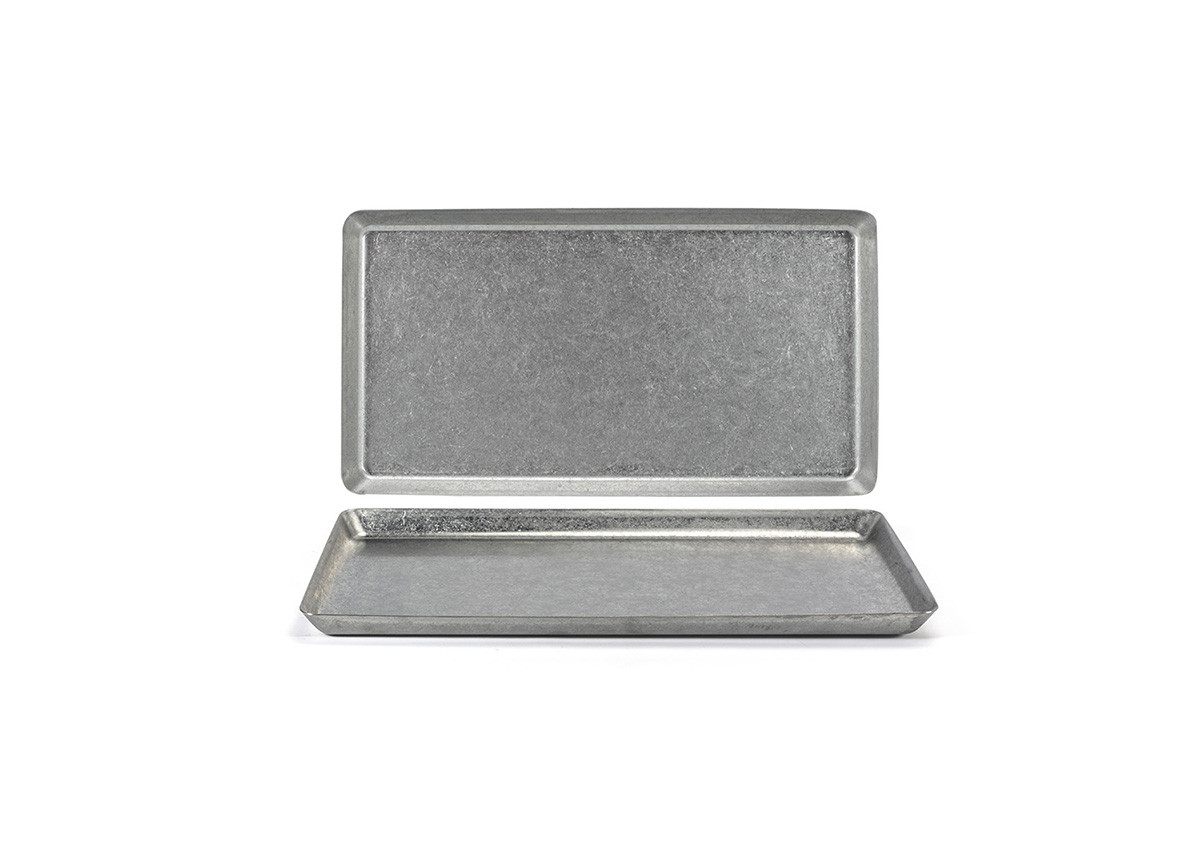 """12.5"""" x 8.25"""" Stainless Mod Plate - Antique"""