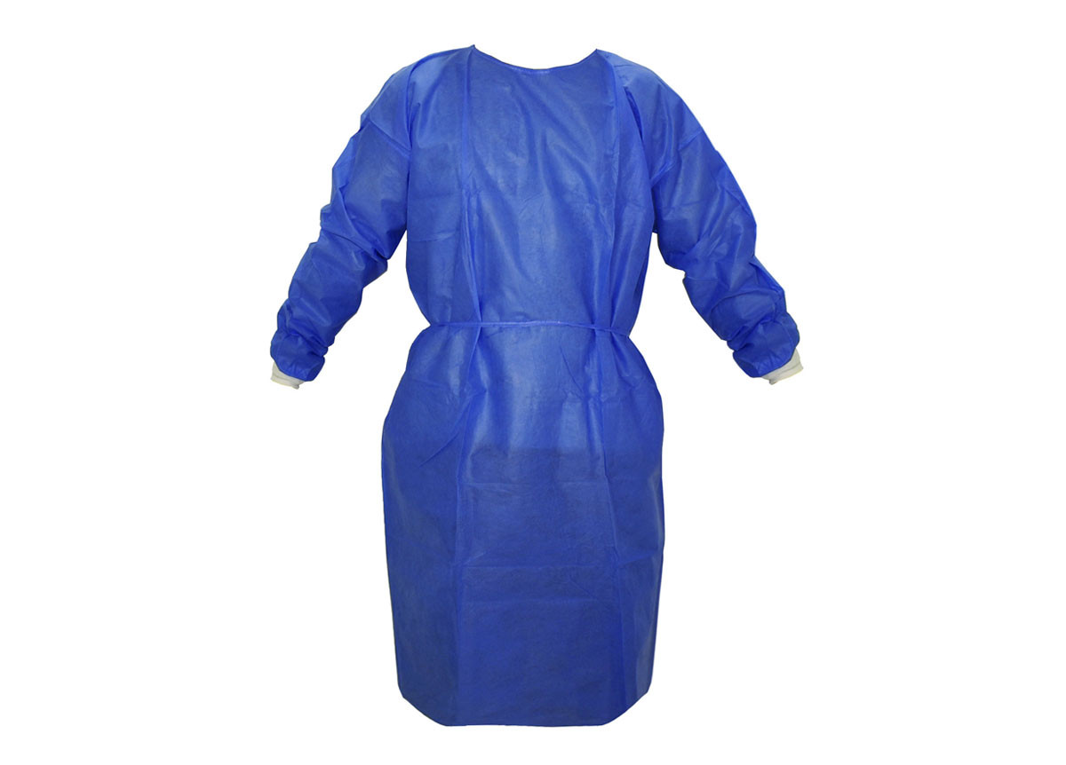"""45"""" Disposable Isolation Gown - non-sterile - non-surgical"""