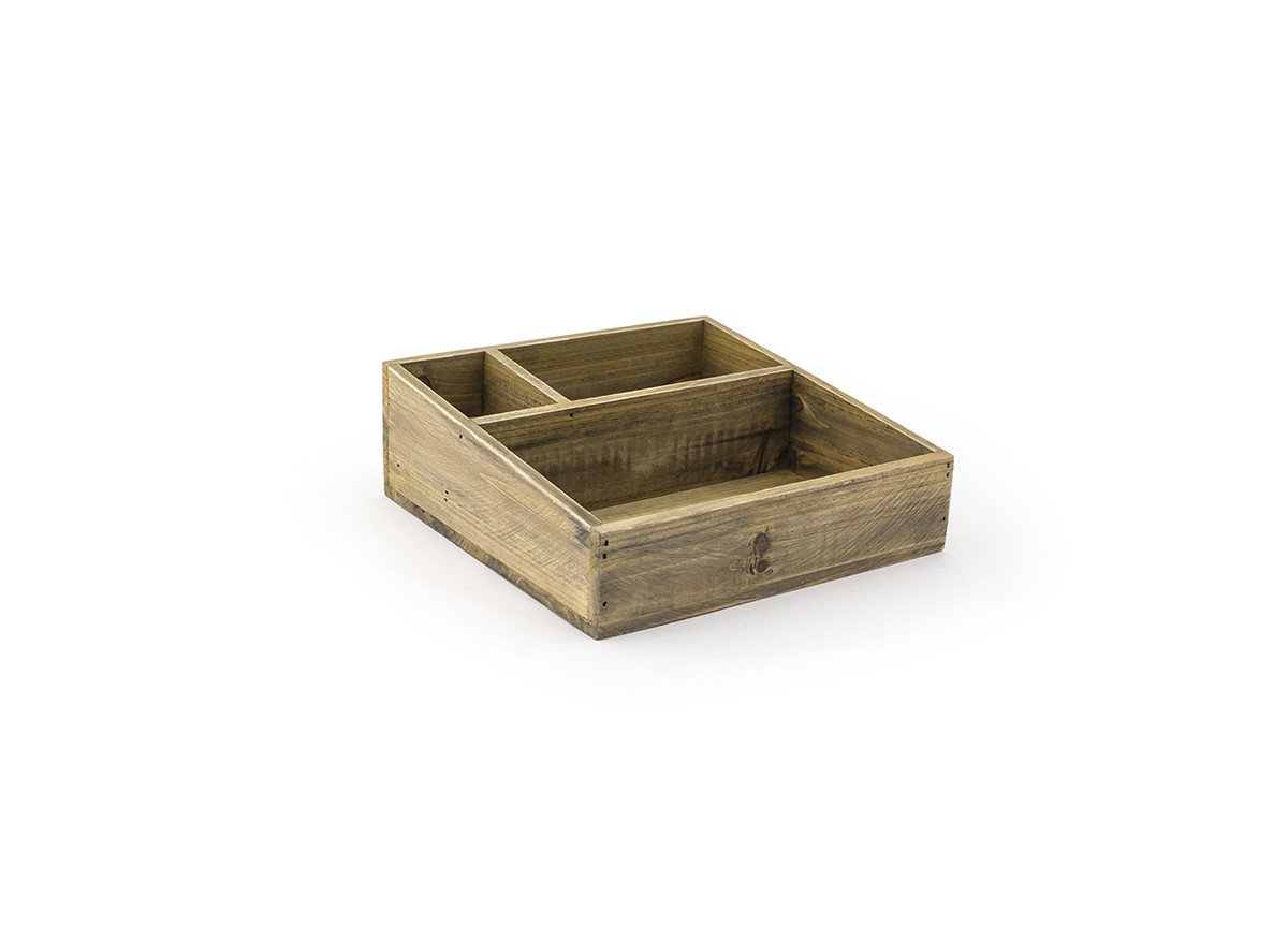 """8.75"""" x 8.25"""" Rustic Accessory Holder - Natural"""