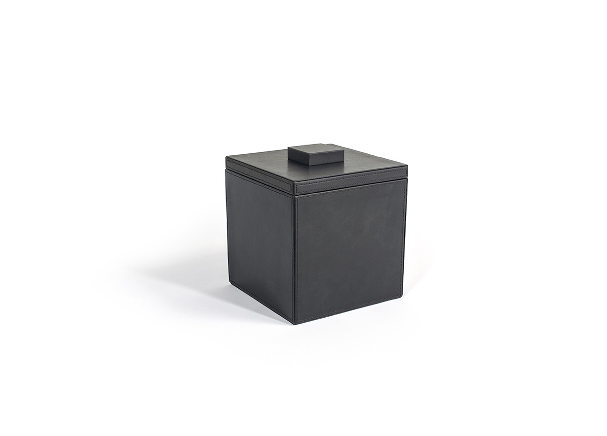3.5qt Square London Ice Bucket - Black with Black Lid