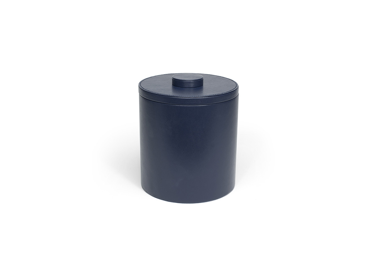 3.5qt Round London Ice Bucket - Navy with Navy Lid