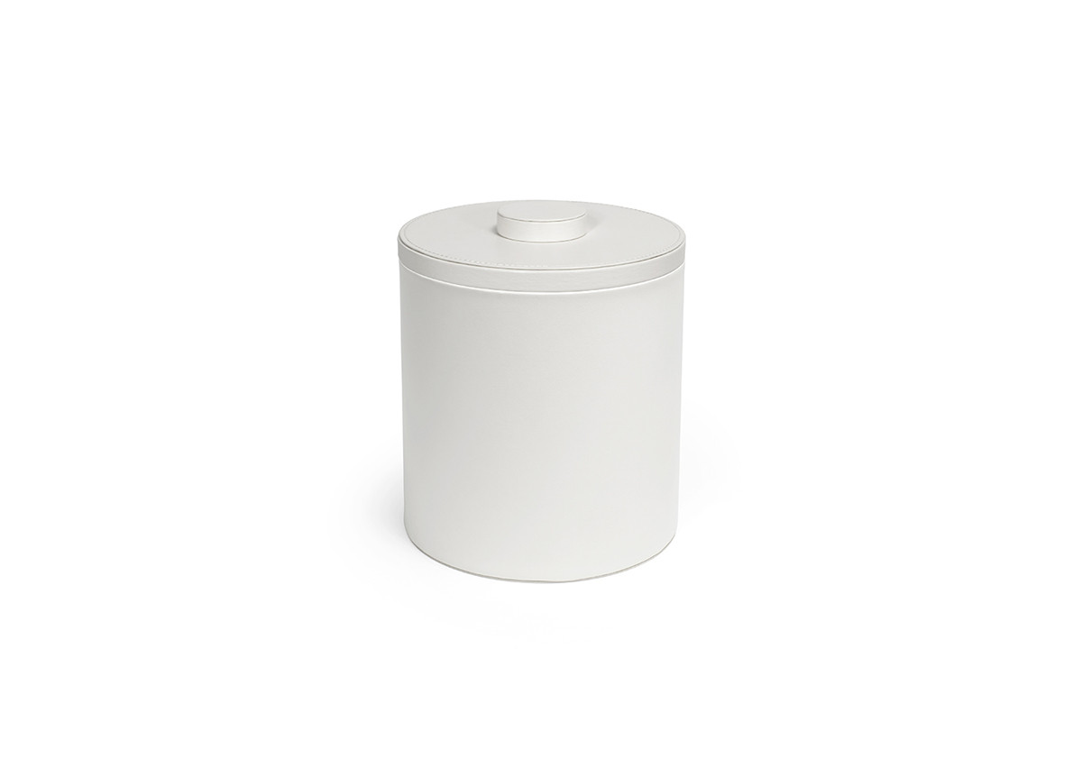 3.5qt Round London Ice Bucket - White with White Lid