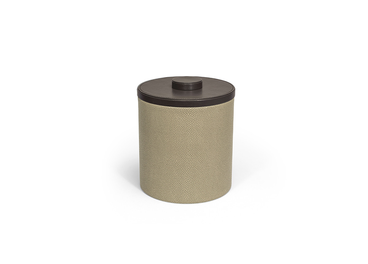 3.5qt Round Belize Ice Bucket - Dune with London Brown Lid
