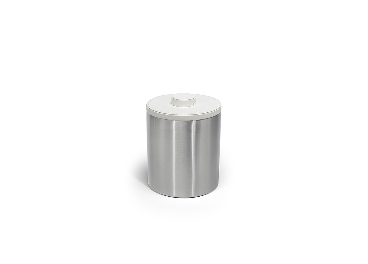 2qt Brushed Stainless Ice Bucket - Silver with London White Lid