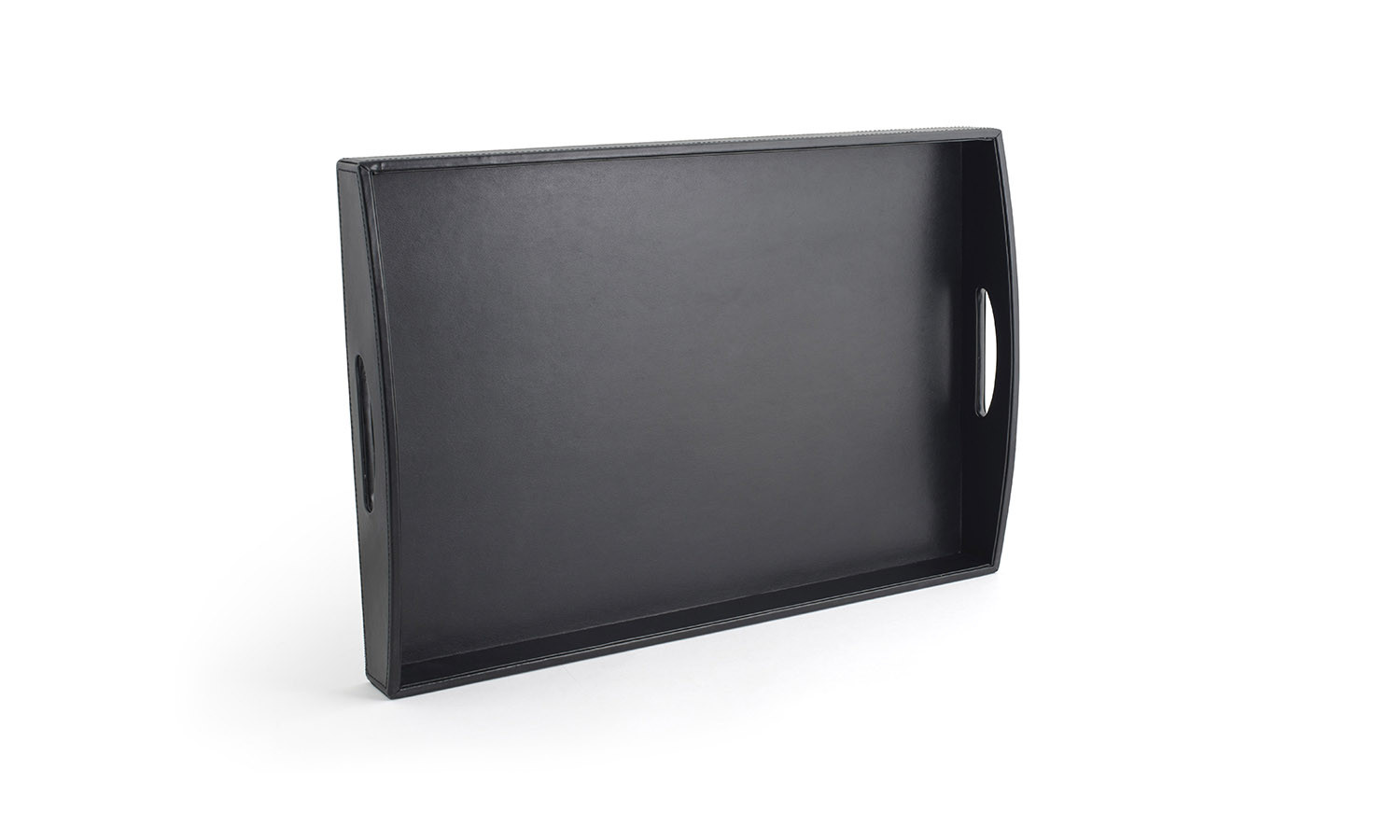 "19"" x 13"" London Handled Tray - Black"