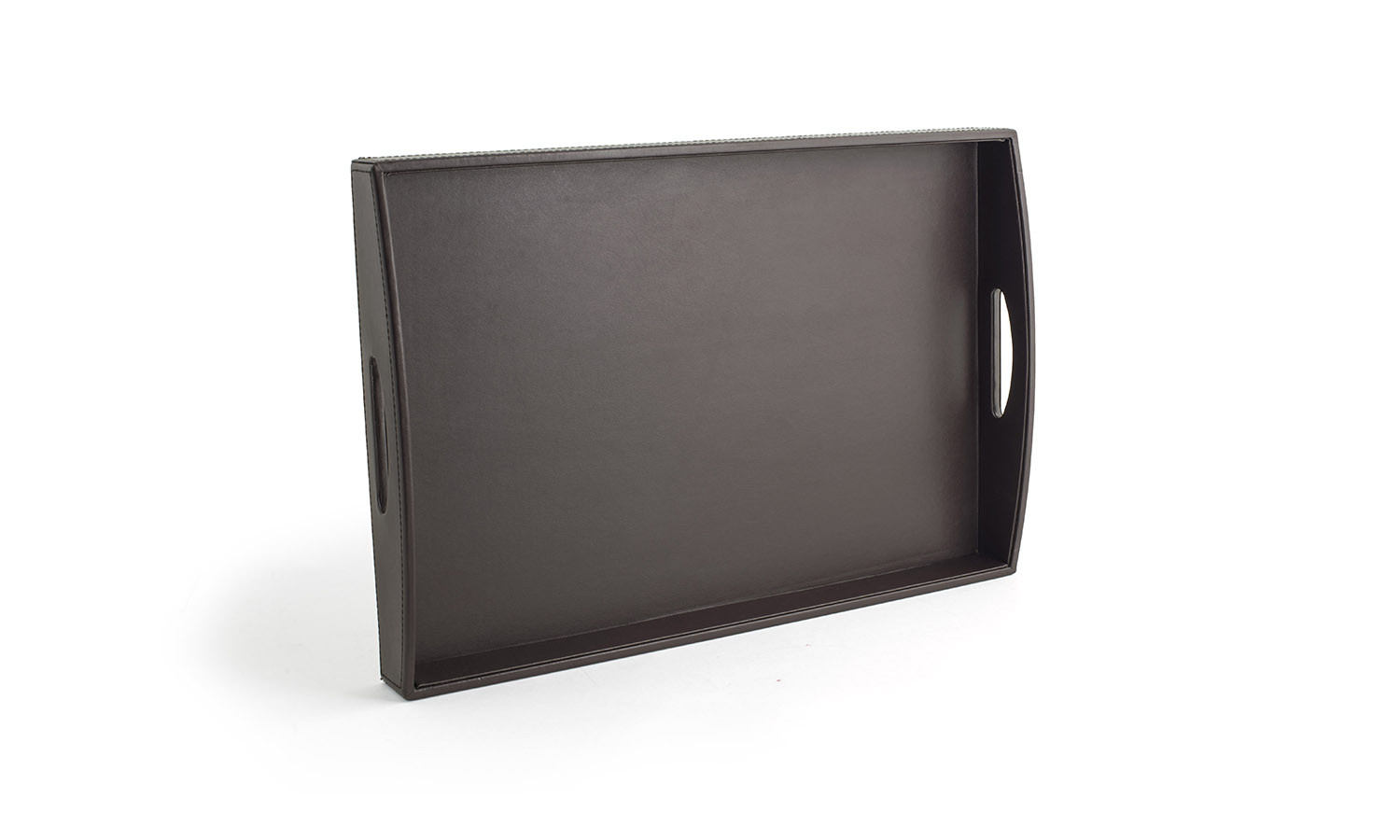 "19"" x 13"" London Handled Tray - Brown"