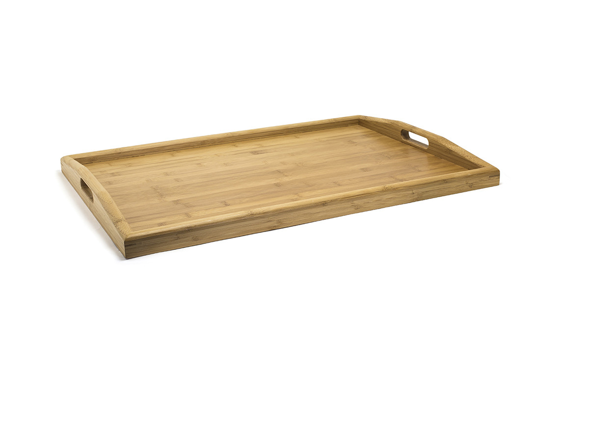 "26"" x 18"" Bali Curved Handled Room Service Tray"