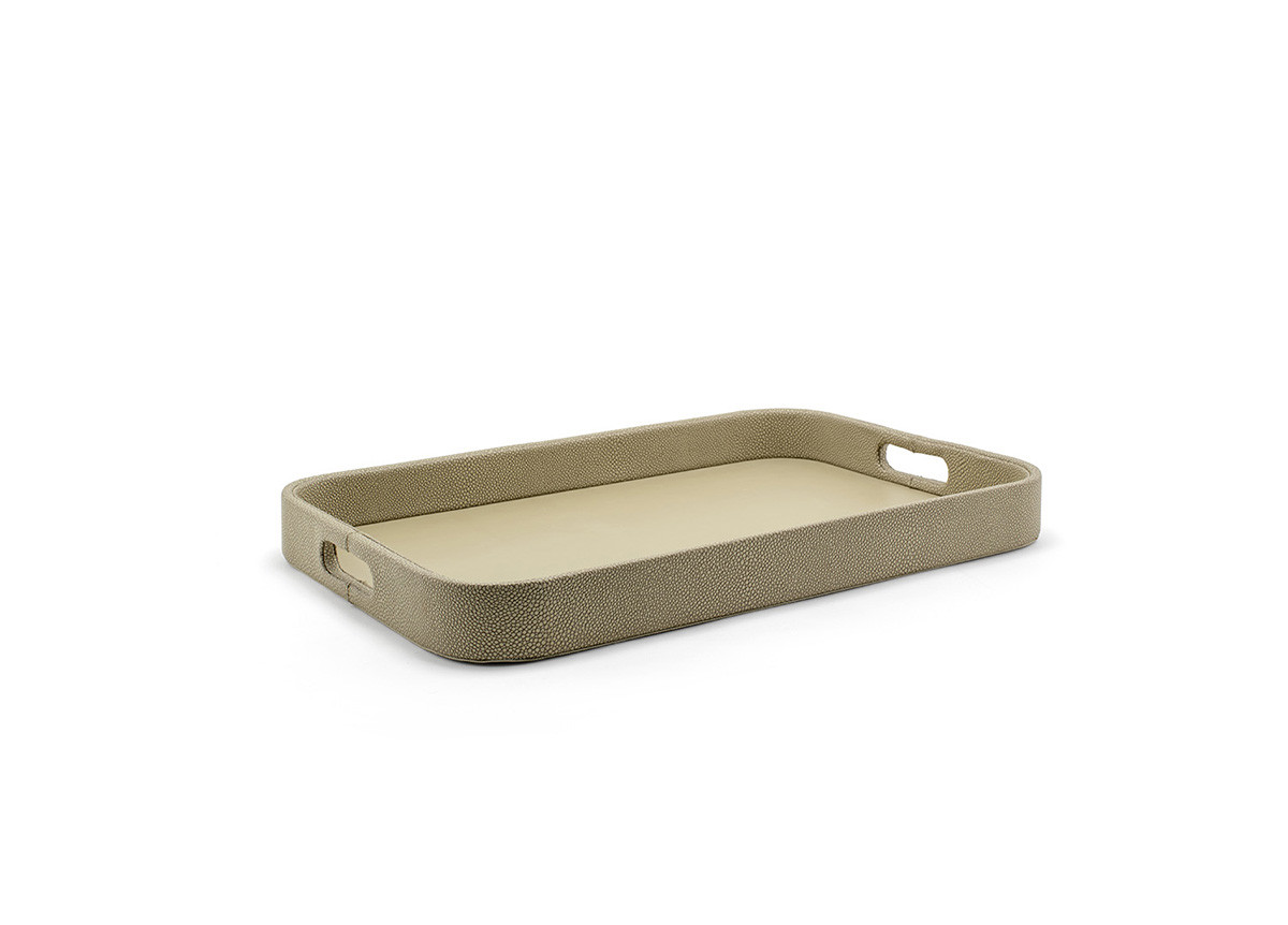 "18"" x 12"" Belize Handled Tray - Dune"