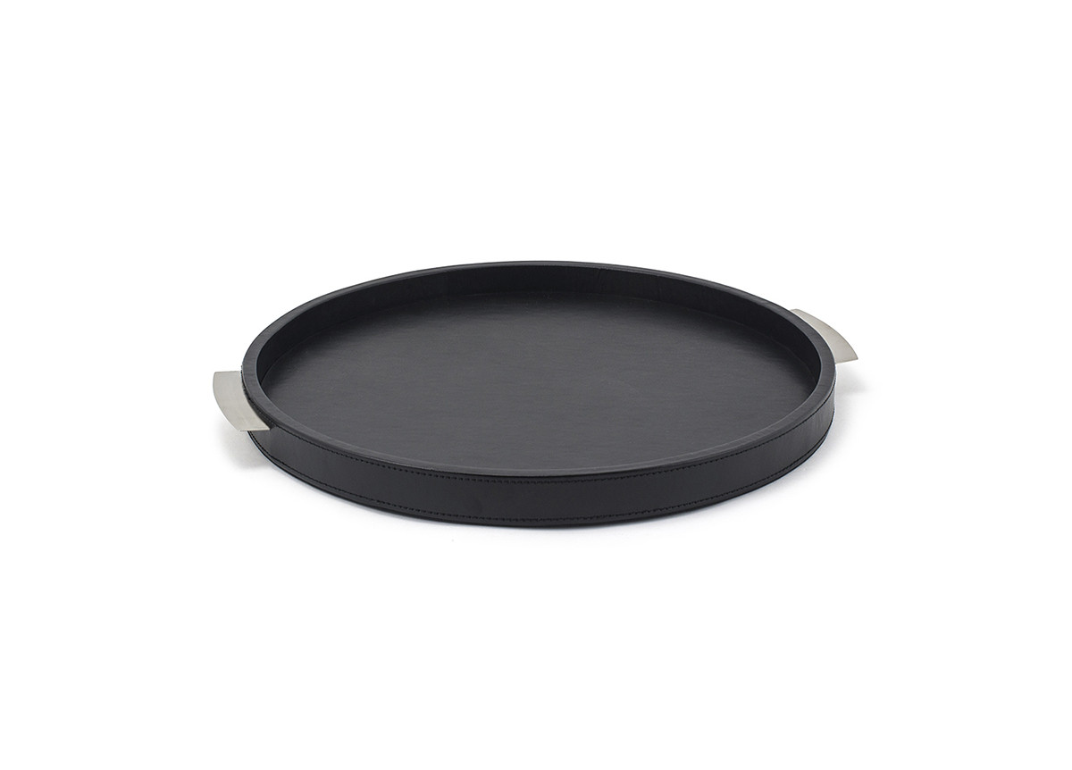 "15"" Round London Tray - Black"