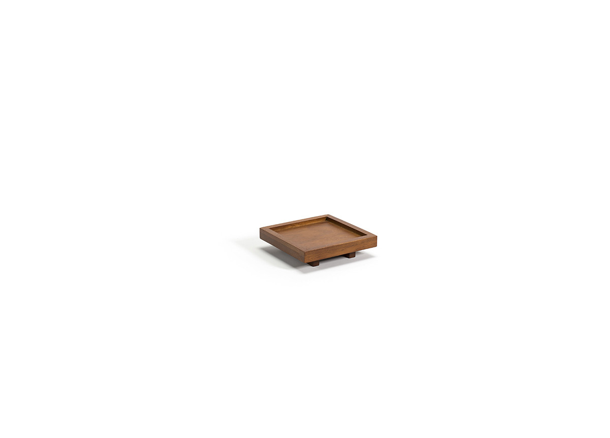"4.5"" Square Rubberwood Holder"