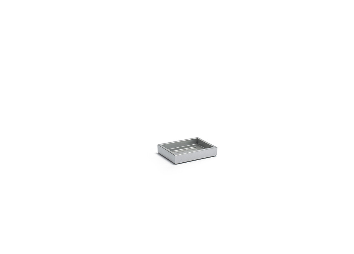 "4.25"" x 3.25"" New York Soap Dish - Steel"