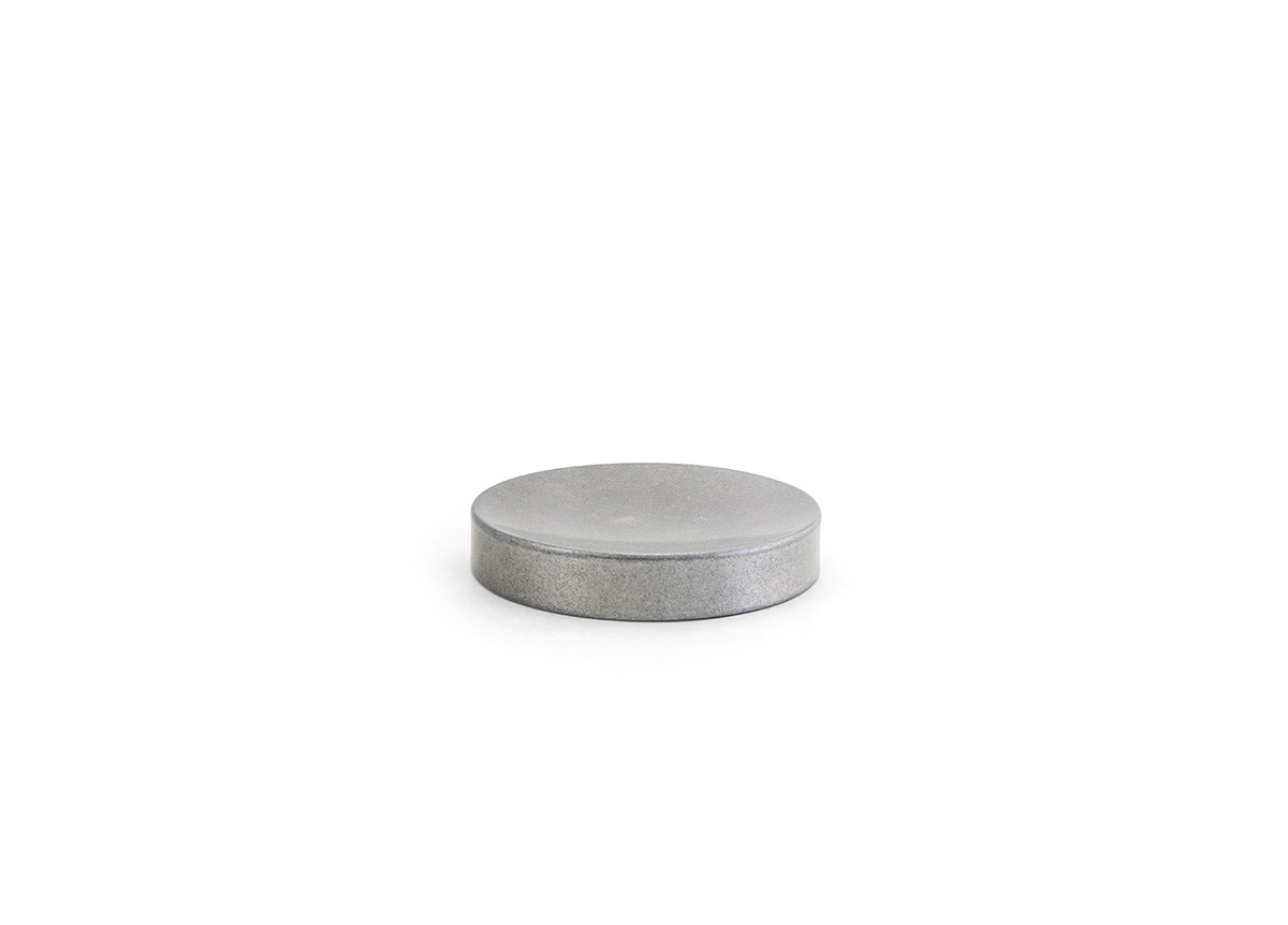 """4.25"""" Round Stainless Soap Dish - Antique"""